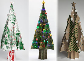 Cascades Offering Recycled Cardboard Christmas Trees Printaction