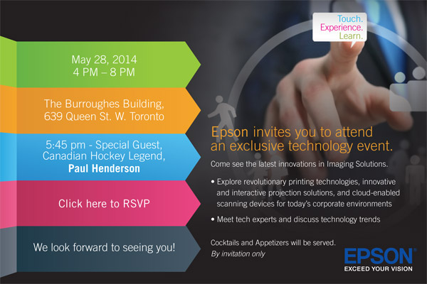 Epson invites you to attend an exclusive technology event.
