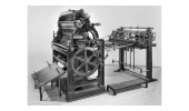 The original Rubel offset press. PHOTO: DIVISION OF WORK AND INDUSTRY, NATIONAL MUSEUM OF AMERICAN HISTORY, SMITHSONIAN INSTITUTION.